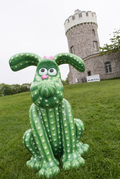 Gromit decorated as a cactus