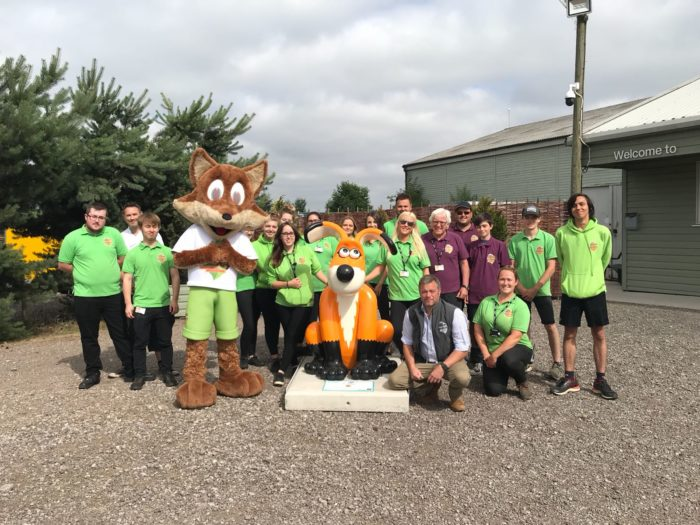 avon valley staff with cubby, the grand appeal gromit sculpture