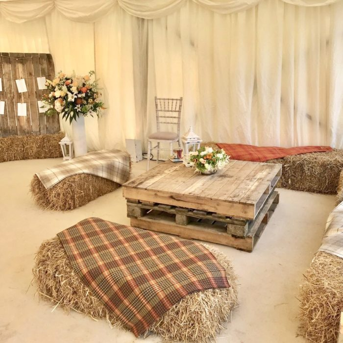 Rustic Wedding Seating at Avon Valley