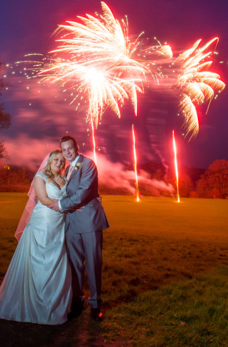 Wedding Fireworks at Avon Valley